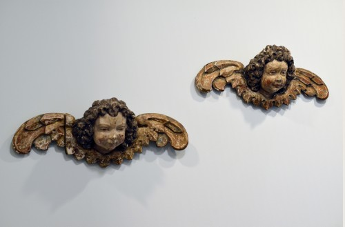 Pair of early 16th cent. Ulmish winged putti, possibly by Gregor Erhart -