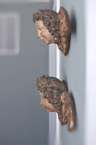 Pair of early 16th cent. Ulmish winged putti, possibly by Gregor Erhart - Renaissance