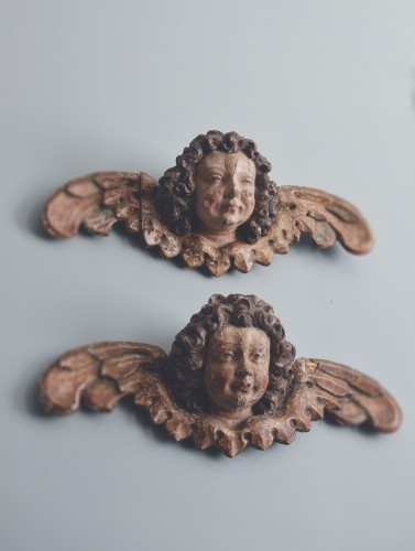 Renaissance - Pair of early 16th cent. Ulmish winged putti, possibly by Gregor Erhart
