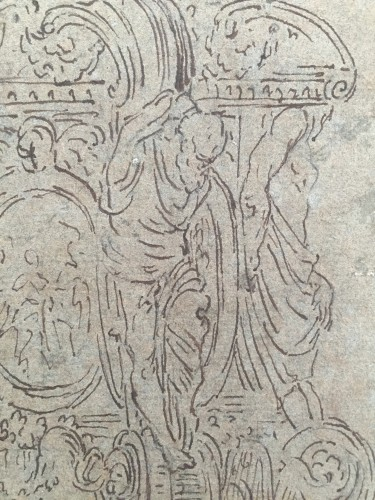 <= 16th century - Old Master Sketch of the Farnese Candlestick, attributed to Antonio Gentili