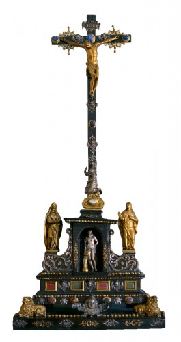 17th cent. Roman altar cross from the estate of a Belgian princess