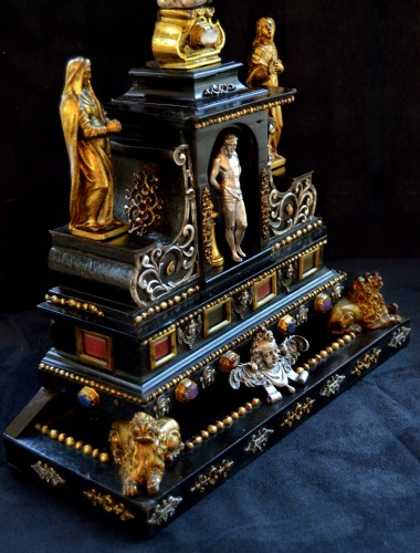 17th century - 17th cent. Roman altar cross from the estate of a Belgian princess