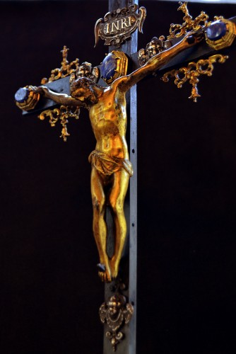 Renaissance - 17th cent. Roman altar cross from the estate of a Belgian princess