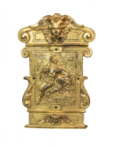 A gilt bronze pax from the Workshop of Guglielmo della Porta