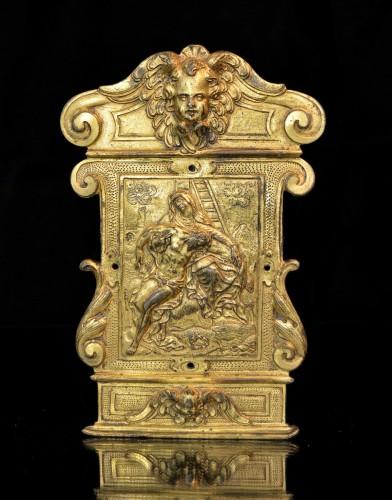 Religious Antiques  - A gilt bronze pax from the Workshop of Guglielmo della Porta
