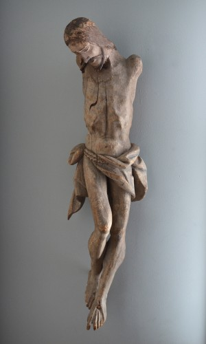 A large Colonial Spanish-Portuguese wood corpus of Christ - Sculpture Style Renaissance