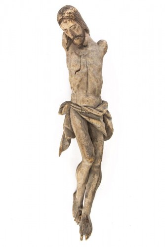 Sculpture  - A large Colonial Spanish-Portuguese wood corpus of Christ