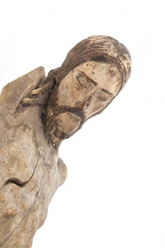 A large Colonial Spanish-Portuguese wood corpus of Christ -