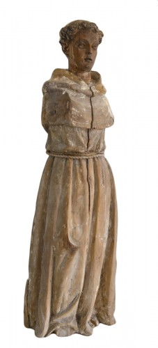 18th century Santos figure of a Franciscan Monk