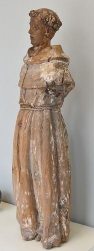18th century Santos figure of a Franciscan Monk - Sculpture Style Renaissance