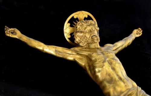17th century - An important Italian gilt bronze corpus, circa 1600