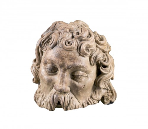Fragmentary Stone Bust from the school of Adam Kraft, ca. 1500-20