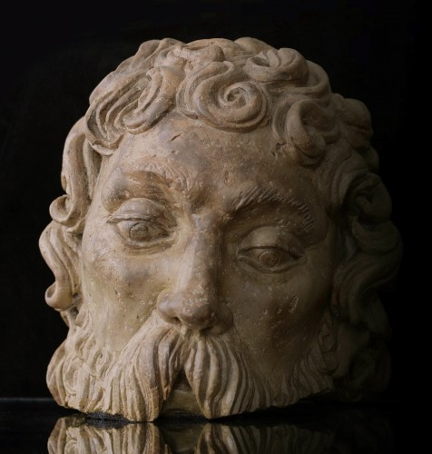 Fragmentary Stone Bust from the school of Adam Kraft, ca. 1500-20 - Sculpture Style Renaissance