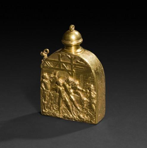 Objects of Vertu  - A scarce gold-plated Renaissance wine flask, after Peter Flötner
