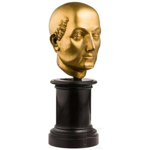 16th cent. Florentine gilt bronze Bust, possibly by Baccio Bandinelli - Sculpture Style Renaissance