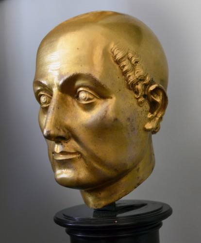 Sculpture  - 16th cent. Florentine gilt bronze Bust, possibly by Baccio Bandinelli