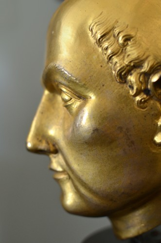 <= 16th century - 16th cent. Florentine gilt bronze Bust, possibly by Baccio Bandinelli