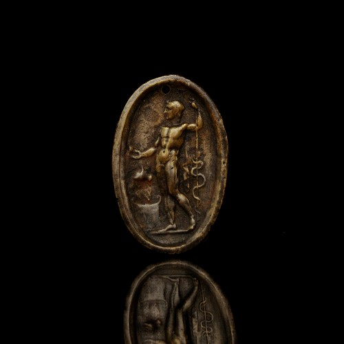 A collection of four 15th century all'antica bronze Italian plaquettes - Sculpture Style Renaissance