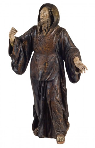 Important wood statue of St. Anthony attributed to Pietro Torigiani