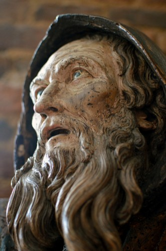 Important wood statue of St. Anthony attributed to Pietro Torigiani - Sculpture Style Renaissance