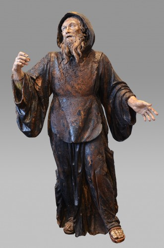 Sculpture  - Important wood statue of St. Anthony attributed to Pietro Torigiani