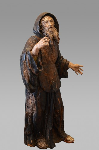 Important wood statue of St. Anthony attributed to Pietro Torigiani -