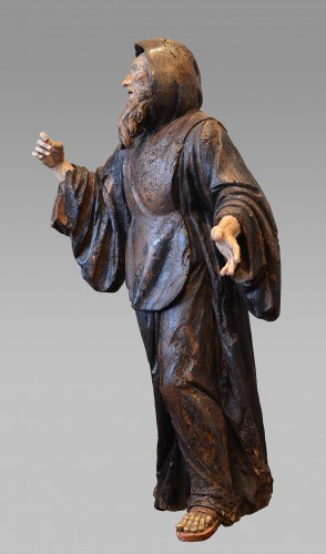 Important wood statue of St. Anthony attributed to Pietro Torigiani - Renaissance