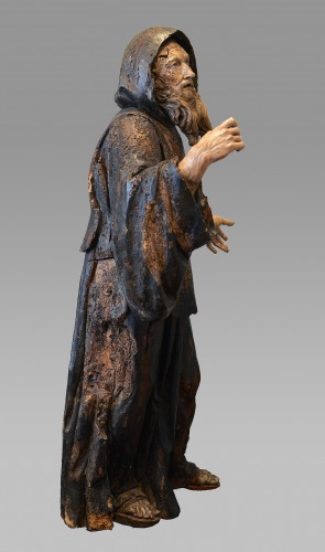 Renaissance - Important wood statue of St. Anthony attributed to Pietro Torigiani