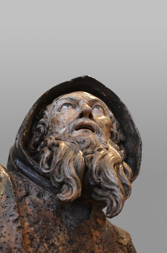 Antiquités - Important wood statue of St. Anthony attributed to Pietro Torigiani
