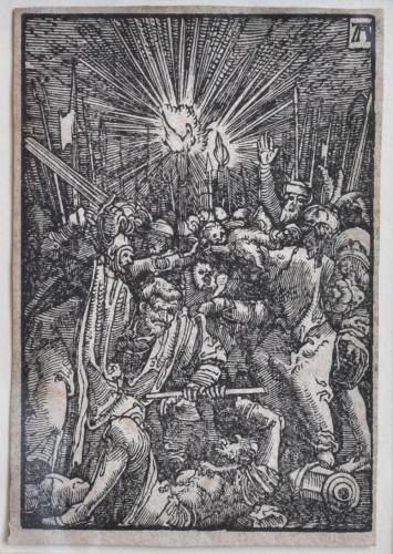 A framed collection of 7 woodcuts by Albrecht Altdorfer - Engravings & Prints Style Renaissance