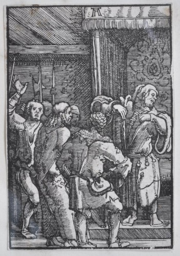 Engravings & Prints  - A framed collection of 7 woodcuts by Albrecht Altdorfer