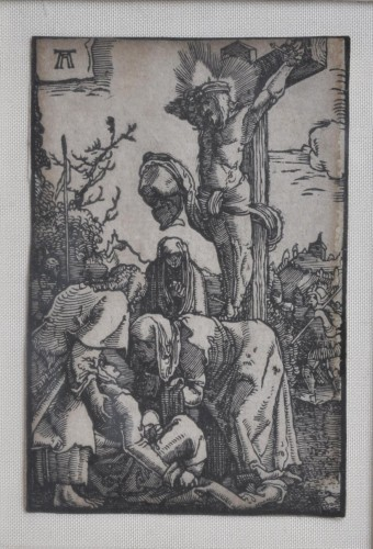 A framed collection of 7 woodcuts by Albrecht Altdorfer - Renaissance