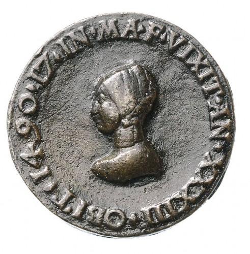 The earliest German medal. Memorial Medal of Margaretha Vischer