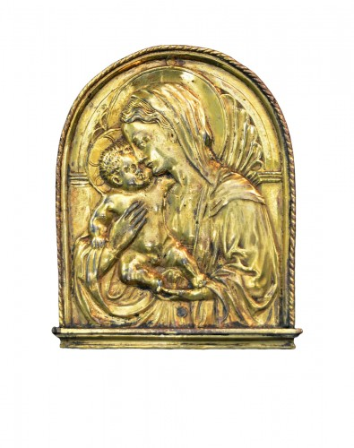 Important Florentine pax of the Virgin and Child, after Donatello