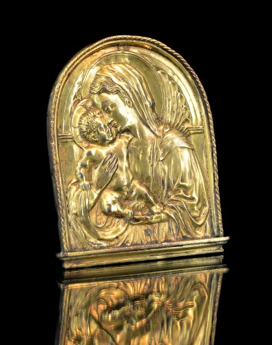 Important Florentine pax of the Virgin and Child, after Donatello - Religious Antiques Style Renaissance