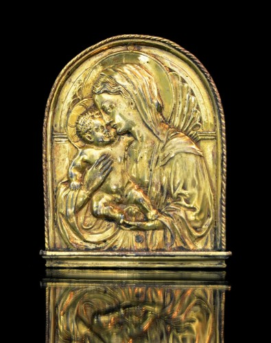 <= 16th century - Important Florentine pax of the Virgin and Child, after Donatello
