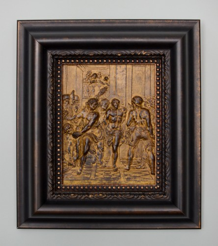 17th century bronze plaque of the Flagellation of Christ - Religious Antiques Style Renaissance