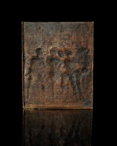 Renaissance - 17th century bronze plaque of the Flagellation of Christ