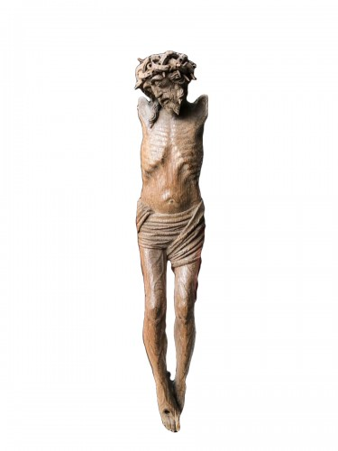Late 15th century Gothic Netherlandish Christ in Oak