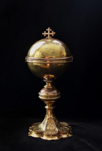 A Refined Early 16th century gilt copper North Italian Ciborium - Religious Antiques Style Renaissance