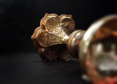 <= 16th century - A Refined Early 16th century gilt copper North Italian Ciborium