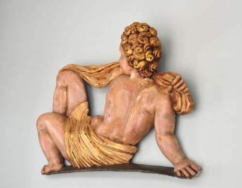 Late Renaissance Spanish Putto relief - School of Francisco Giralte - Sculpture Style