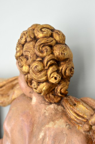 Sculpture  - Late Renaissance Spanish Putto relief - School of Francisco Giralte