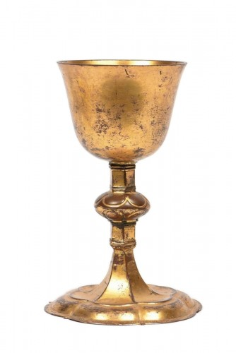 A Medieval Gilt-Brass German Chalice
