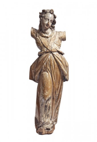 17th century Bavarian limewood statue of an Angel