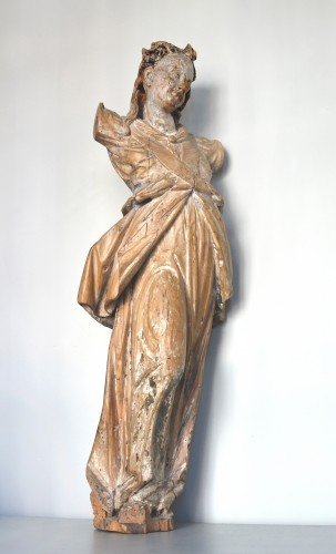 Sculpture  - 17th century Bavarian limewood statue of an Angel