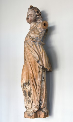 17th century Bavarian limewood statue of an Angel -