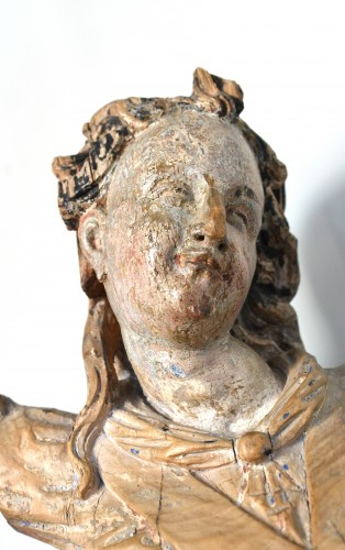 17th century Bavarian limewood statue of an Angel - Renaissance