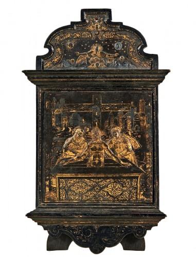 A damascened devotional pax - workshop of Giovan Battista Panzeri