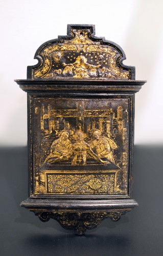 A damascened devotional pax - workshop of Giovan Battista Panzeri - Religious Antiques Style Renaissance